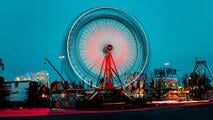 A fast turning ferris wheel which resembles HubSpots flying wheel which also turns